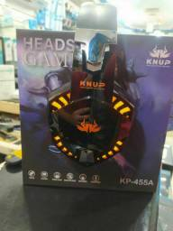 <br>Headset Gamer Led Pc Ps4 X One Mobile P3 Fone Gamer Kp 455a