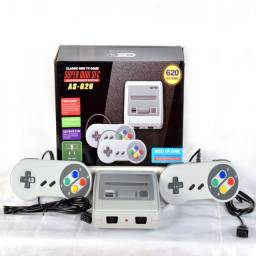 Super Mini SFC 8 Bits 620 jogos 2 controles