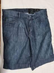 Bermuda Strech Jeans Escura,Ellus,42