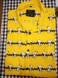 Camisa manga curta snoopy
