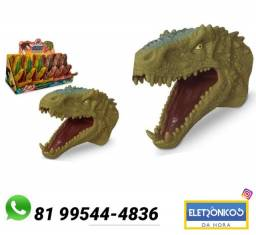 Fantoche De Mao Cabeça De Dinossauro Tirano Rex Adijomar só zap