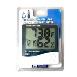 Medidor Temperatura/Umidade Relógio Digital