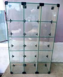 Baleiro de vidro com 15 divisórias