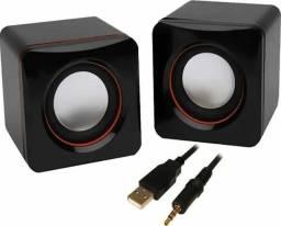 Título do anúncio: Speaker Caixa Caixinha Som 3w Usb P2 Pc Notebook Desktop