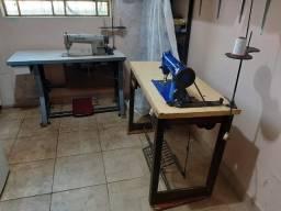 maquinas de costura  p/ tapeçaria  e  bomba p/ impermeabilizar tecidos