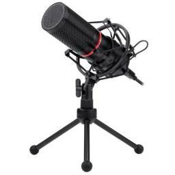 Título do anúncio: [Novo] Microfone Condensador Streamer Blazar Redragon