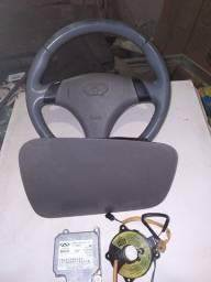 Kit airbag volante completo passageiro módulo cinta Chery Tiggo 2009 a 2011