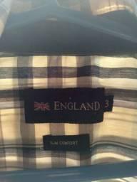 Título do anúncio: Camisa da marca england slim comfort