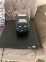 Impressora fiscal e gaveta para dinheiro