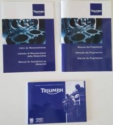 Título do anúncio: Manual Proprietário Manutenção Segurança Triumph Speed Triple