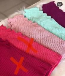 Kit com 6 blusas