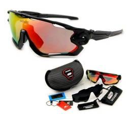 Título do anúncio: Óculos Ciclismo Queshark 3 lentes