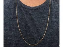 Cordão de ouro, tijolinho, cartier, cadeado, Ouro 750