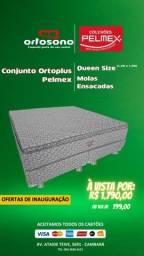 Cama Conjunto Queen Size Molas Ensacadas Pelmex