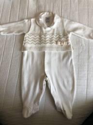 Título do anúncio: Macacão com detalhe em tricot