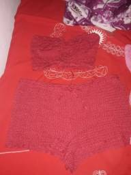Conjunto de Crochê semi novos.