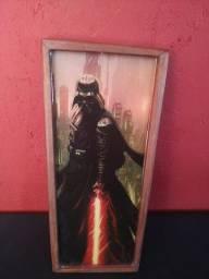 Quadro Darth Vader Star Wars em Madeira e Resina