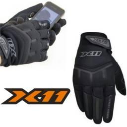Luva X11 Fit com Touch Motociclista Unissex Conforto e Segurança na Pilotagem<br>
