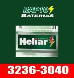Bateria Heliar para Carro 60ah seminova com Garantia. Entrega e Instalação Grátis.