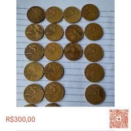 Moedas 25 centavos 98-99-2000-2001