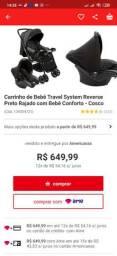 Carrinho de bebê com bebê conforto Cosco Travel System Reverse