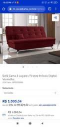 $600 Sofá retrátil 3lugares