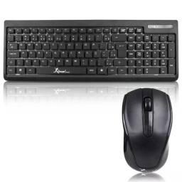 Título do anúncio: Kit Teclado + Mouse Sem Fio Knup Kp-2012- Rf Informatica