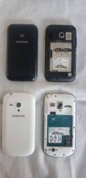 02 celular Samsung *sem bateria*