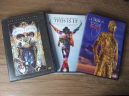 3 dvds Michael Jackson - History, Dangerous e This is It