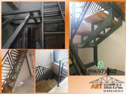 Estrutura metálica escada