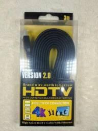 Título do anúncio: cabo HDMI Version 2.0 4K - Hdtv - 3D - 3 metros