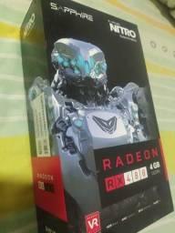 Placa de vídeo AMD Radeon Sapphire Rx 480 nitro OC 4gb