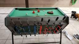 Mesa de jogos 3x1 (Sinuca, Hokey de mesa e Pebolim)