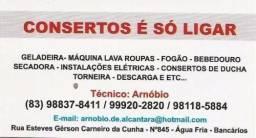 Geladeira, Fogão, Lavadoras - Consertos e Instalação