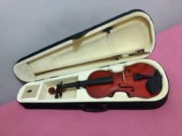 Violino Marinos 4/4 novo, Case, Arco, Breu