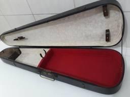 Caixa Violino Antiga Caixão Vintage Restaurado Lindo. 120 Anos
