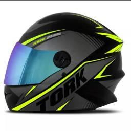 (Promoção) Viseira Camaleão Capacete Moto Modelo R8 Pro Tork,Transporte