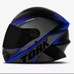 Capacete Moto ProTork R8 Viseira Cristal + Viseira Fumê +Toca Balaclava Grátis,Transporte