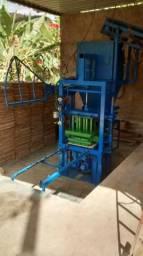 Maquina de fabricar blocos pneumática completa