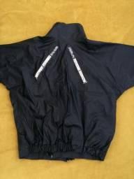 Jaqueta tipo capa de chuva para motoqueiros