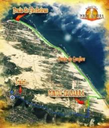 Lotes divisa Praia de Guajiru,frente Dunas e mar, entre Flecheiras e Lagoinha