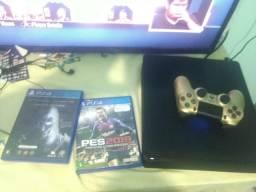Vendo PS4 slim mais fone warrior Multilaser