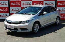 Honda civic lxl 2012 unico dono raridade km 39145 - 2012