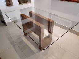 Mesa Drake - Prima Línea - Tampo de vidro - Não acompanha cadeiras