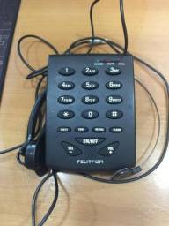 Telefone Headset Felitron S8010 Preto