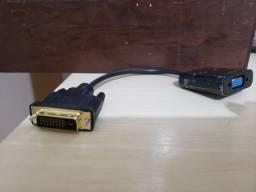 Conversor e Adaptador de Vídeo DVI para VGA
