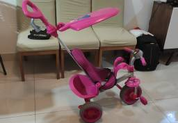 Triciclo Smart Reclinavel ROSA- Bandeirante