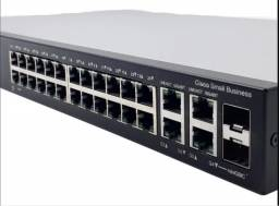 Switch Cisco Sf 300-24 Portas Srw224g4-k9 Novo