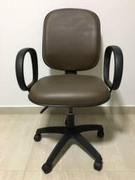 Cadeira Diretor Reclinável Marrom Escritório e Home Office