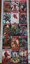 Coletânea de revistas HQ's Deadpool, da Marvel